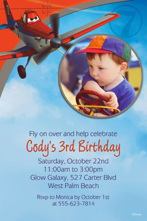 Custom Planes Photo Invitations