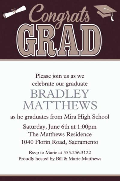 Custom Graduating Class Invitations