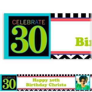 Custom 30th Celebration Photo Banner 6ft