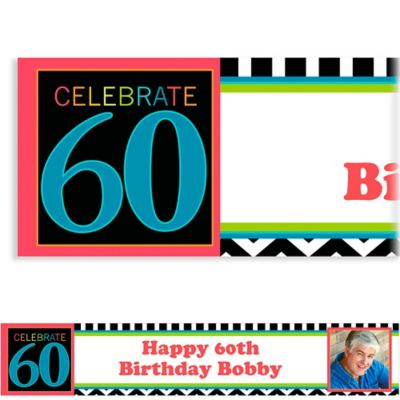 60th Celebration Custom Photo Banner