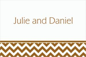 Custom Gold Chevron Thank You Notes