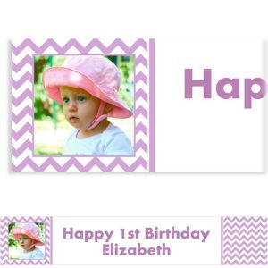 Custom Lavender Chevron Photo Banner 6ft
