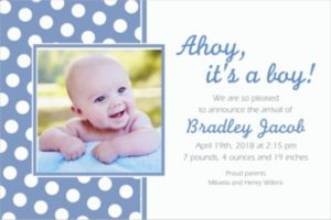 Custom Pastel Blue Polka Dot Photo Invitations