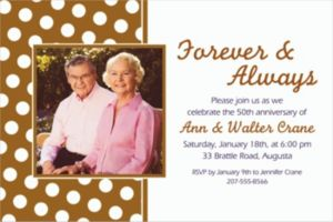 Custom Gold Polka Dot Photo Invitations
