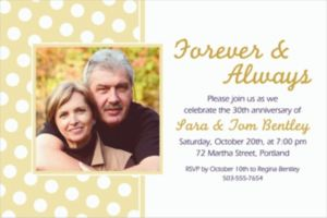 Custom Vanilla Polka Dot Photo Invitations