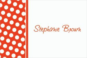 Custom Orange Polka Dot Thank You Notes