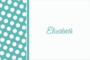 Custom Robin's Egg Blue Polka Dot Thank You Notes