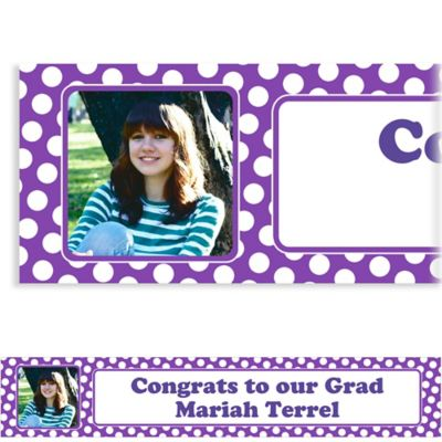 Purple Polka Dot Custom Photo Banner