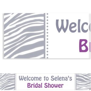 Custom Silver Zebra Banner 6ft