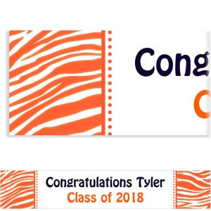 Custom Orange Zebra Banner 6ft