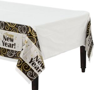Sparkling New Year's Table Cover