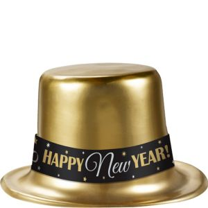 Classic Gold New Year's Top Hat