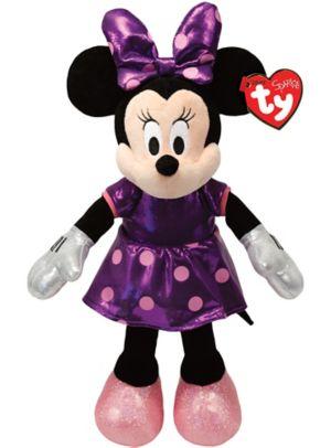 Sparkle Minnie Mouse Purple Beanie Buddies Plush