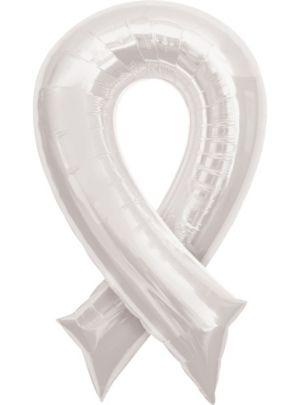 White Ribbon Balloon