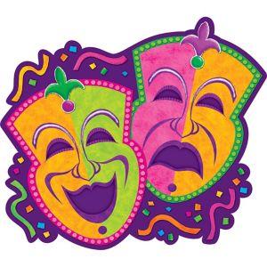 Comedy & Tragedy Mardi Gras Cutout