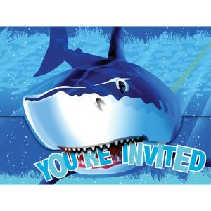 Shark Invitations 8ct