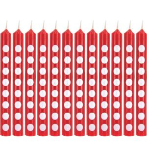Red Dot Birthday Candle