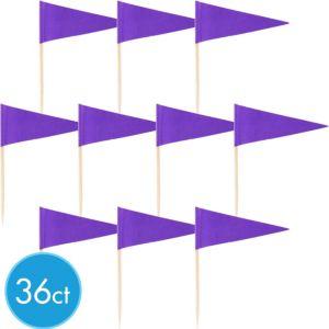 Purple Cupcake Picks 36ct