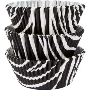 Zebra Baking Cups 75ct