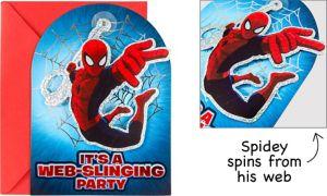 Premium Prismatic Spider-Man Invitations 8ct