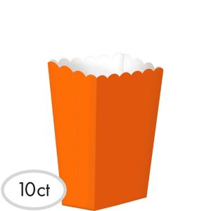Orange Popcorn Treat Boxes 10ct