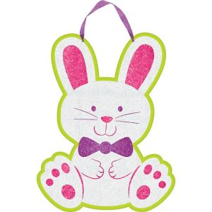 Easter Bunny Glitter Sign