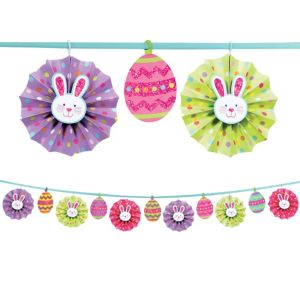 Easter Paper Fan Garland