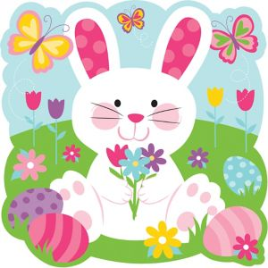 Sitting Easter Bunny Cutout