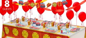Firefighter 1st Birthday Party Supplies Super Party Kit