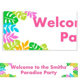 Custom Palm Leaf Banner 6ft