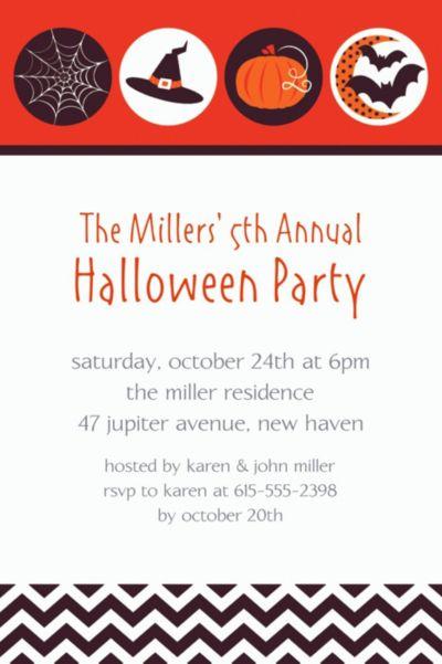 Custom Modern Halloween Invitations