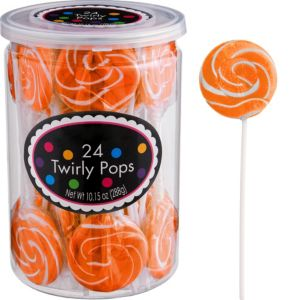Orange Swirly Lollipops 24pc