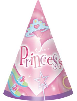 Princess Party Hats 8ct
