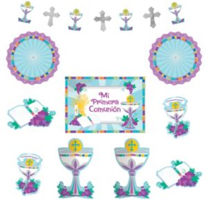 Mi Primera Comunion Room Decorating Kit 10pc