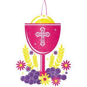 Glitter Pink Chalice Communion Sign