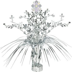 Silver Religious Spray Centerpiece