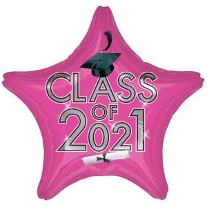 Pink Class of 2017 Graduation Star Balloon