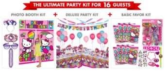 Rainbow Hello Kitty Ultimate Party Kit for 16 Guests
