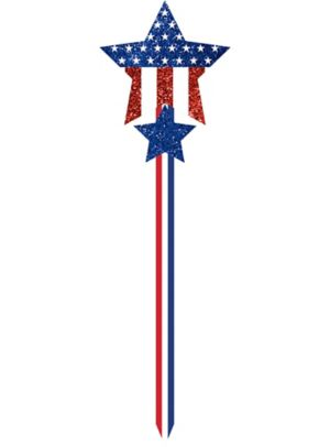 Glitter Patriotic Yard Stake