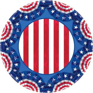 American Pride Patriotic Lunch Plates 60ct