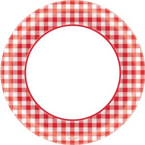 Picnic Party Red Gingham Dinner Plates 40ct