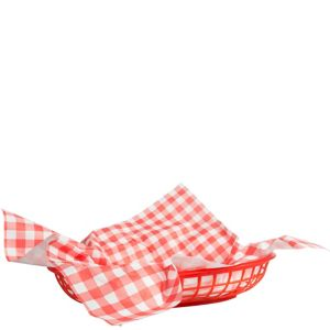 Picnic Party Red Gingham Paper Basket Liners 18ct