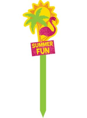 Glitter Summer Fun Yard Stake
