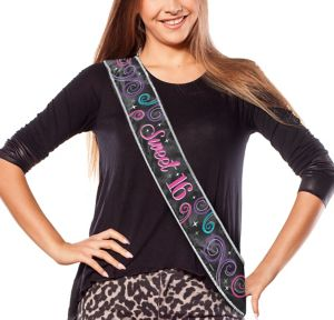 Celebrate Sweet 16 Birthday Sash
