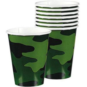 Camouflage Cups 8ct