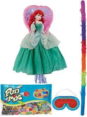 Pull String Ariel Pinata Kit Deluxe