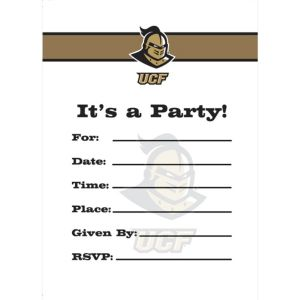 UCF Knights Invitations 8ct