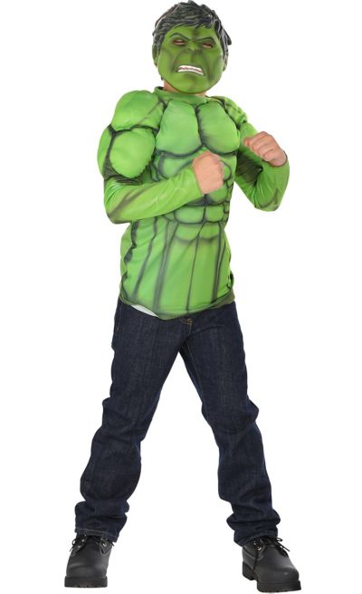Boys Hulk Muscle Costume