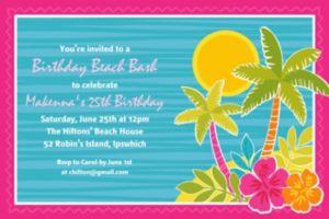 Custom Summer Scene Invitations