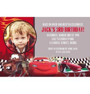 Custom Cars Formula Racer Photo Invitations